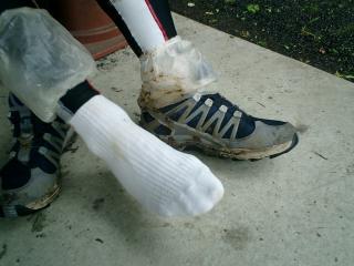カバーのおかげで靴下はきれい