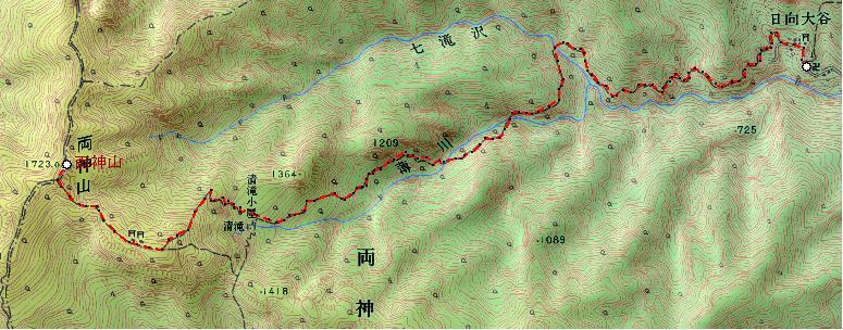 コースの地図